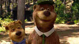 "Boo Boo (from left), as voiced by Justin Timberlake, and Yogi Bear, as voiced by Dan Aykroyd, in Warner Bros. Pictures' live-action/computer-animated adventure in 3D, ""Yogi Bear."""