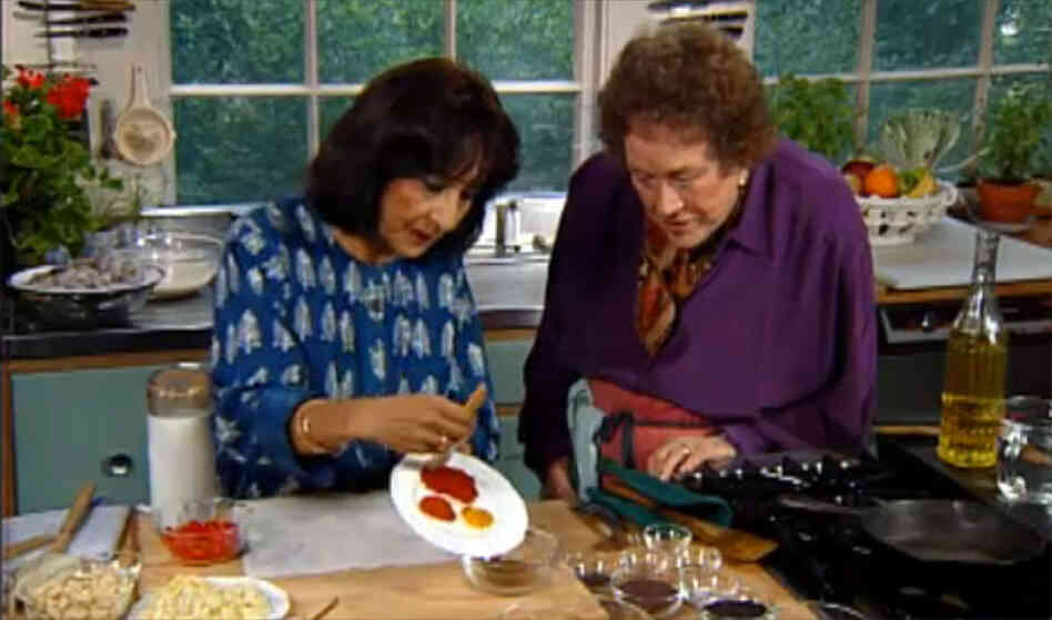 Madhur Jaffrey and Julia Child