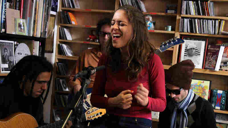 Luisa Maita performs a Tiny Desk Concert at the NPR Music offices.
