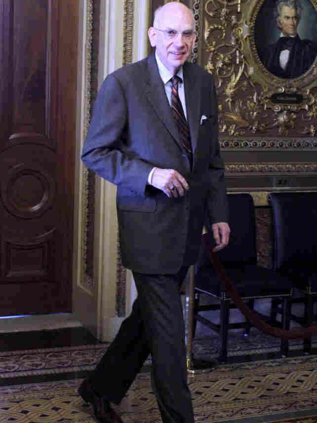Sen. Robert Bennett, R-Utah, walks to the Senate floor, Dec. 7, 2010.
