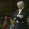 Leonard Bernstein as he conducts the Vienna Philharmonic.