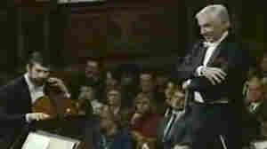 Leonard Bernstein as he conducts the Vienna Philharmonic.