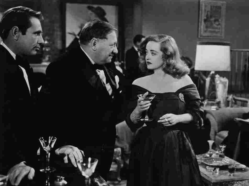 The party scene from the film, All About Eve, in which Bette Davis delivers great lines by way of the martini she's carrying.
