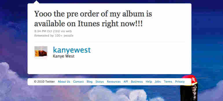 A Tweet from Kanye