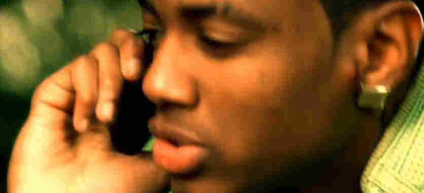 "A still from ""Kiss Me Through the Phone"" by Soulja Boy"