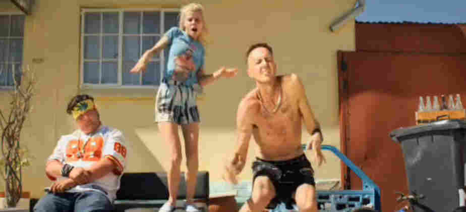 "A still from the ""Zef Side"" viral video featuring Die Antwoord"