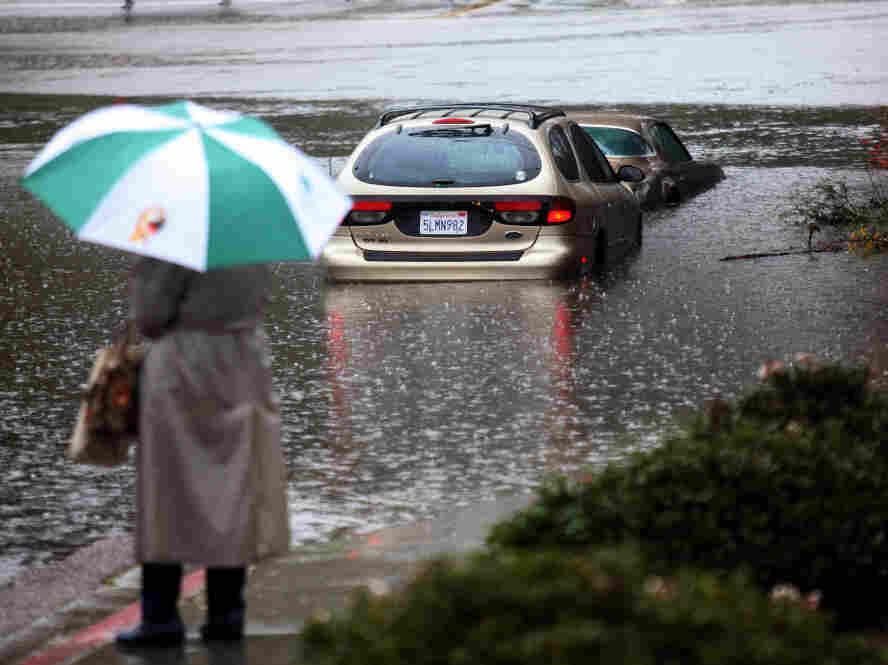 San Diego, Calif., Dec. 21: Flood waters rose in the San Diego River.