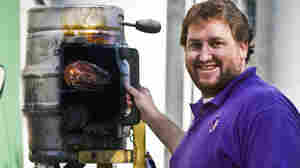 Jay Ducote with his award-winning recipe 'Blackberry, Bourbon, Butt,' a pork shoulder injected with honey and bourbon and smoked for 12 hours.