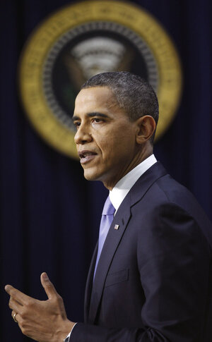 President Obama during his news conference Wednesday.