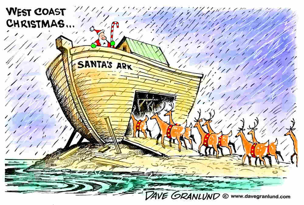 West Coast Flooding At Christmas