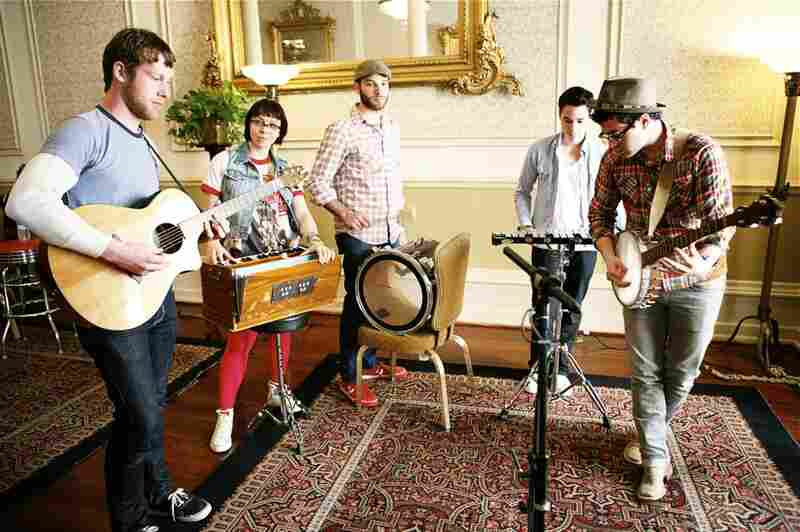 Freelance Whales At SXSW:  During SXSW we had the pleasure of recording a few private sessions in the Driscoll Hotel. With all their odd instruments and the incredible natural light filtering into the historic hotel, it was a thrill to shoot the members of Freelance Whales.