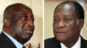 Ivorian president Laurent Gbagbo, and left, and challenger Alassane Ouattara.