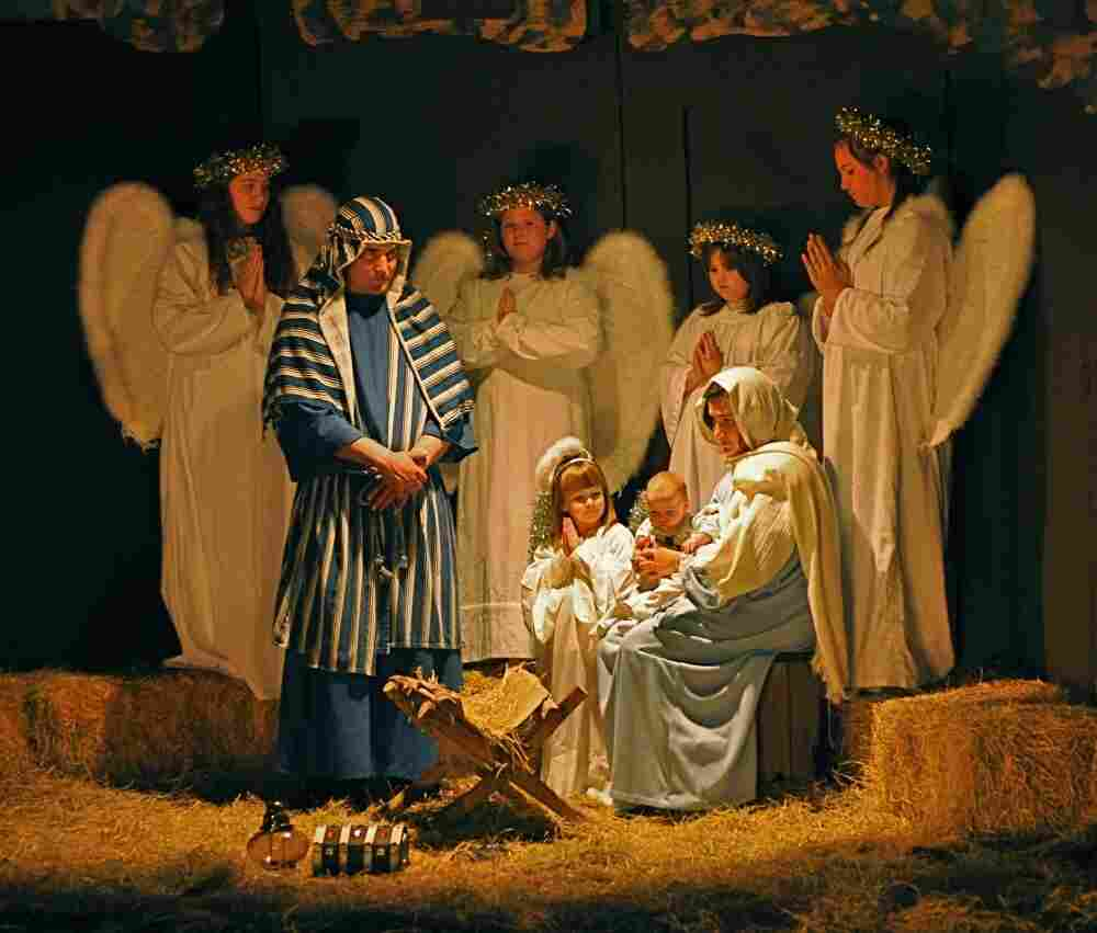 Christmas pageant staged by the First United Methodist Church in Johnson City,  Texas.