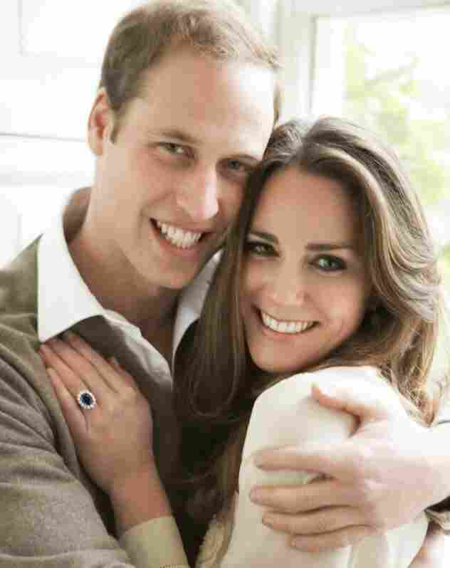 The real Prince William and fiancee Kate Middleton.