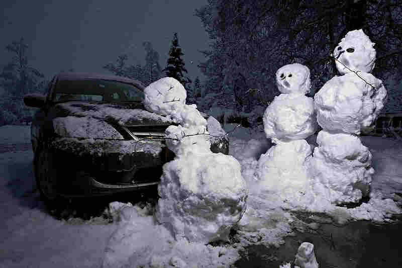 This Calvin and Hobbes scene of a tragic snowman accident is a popular one to re-create.