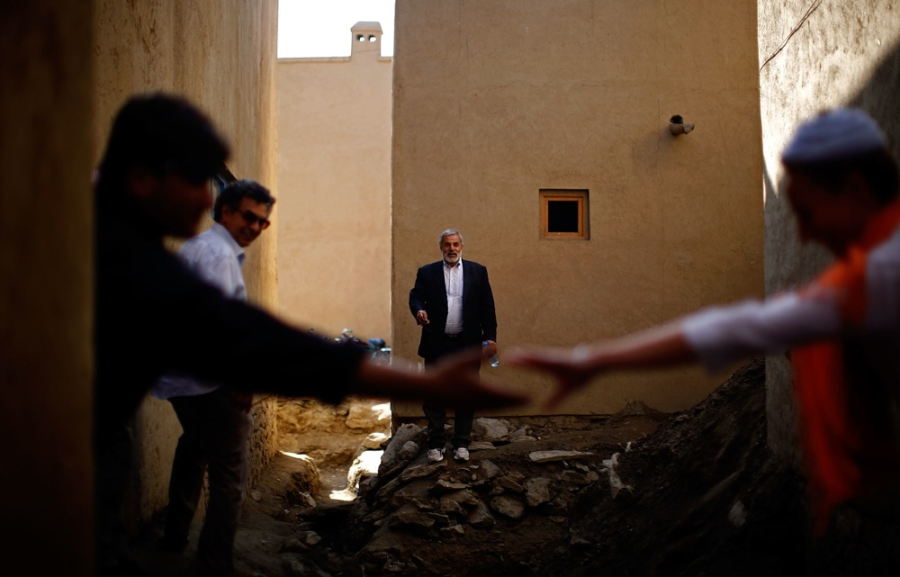 Work to restore this ancient part of Kabul has been ongoing since 2006. Here, Hedayatullah Ahmadzai, the head engineer of the restoration, stands in one of the alleys that will be paved in stone.