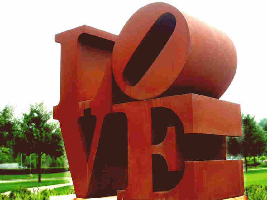 The Love sculpture at the Indianapolis Museum of Art.