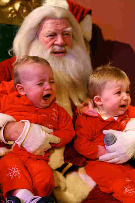 Oh no, now Santa's crying...