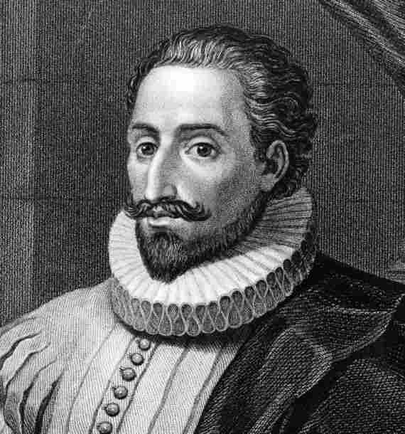 Spanish novelist Miguel de Cervantes circa 1600.
