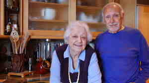 Marcella and Victor Hazan in the kitchen of their home in Longboat Key, Florida.