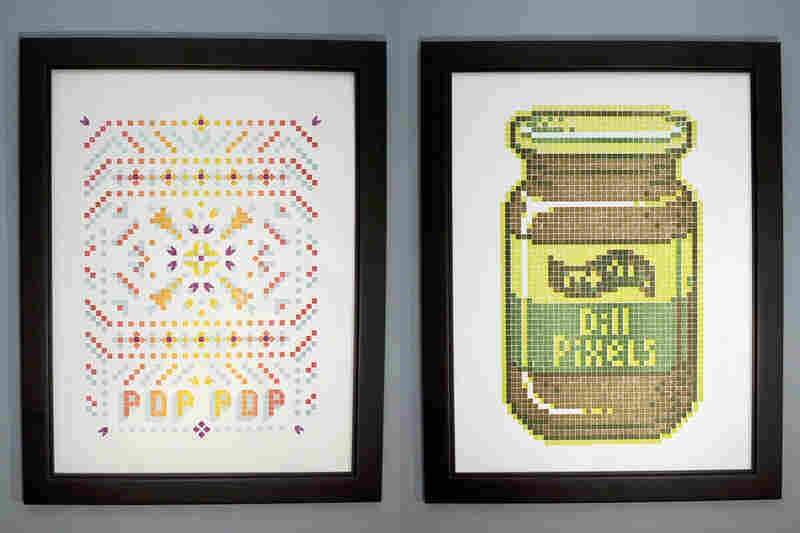 "Final prints for ""Pop Pop"" and ""Dill Pixels""."