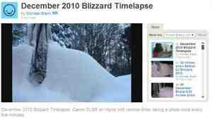 Time-lapse photography of the Dec. 26-27 blizzard in New Jersey.