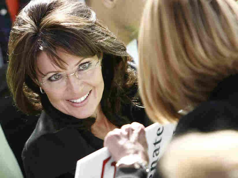 Former Alaska Gov. Sarah Palin at a rally in West Virgina on Oct. 30, 2010.