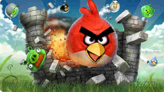 "In ""Angry Birds"" you sling birds at structures built by pigs."