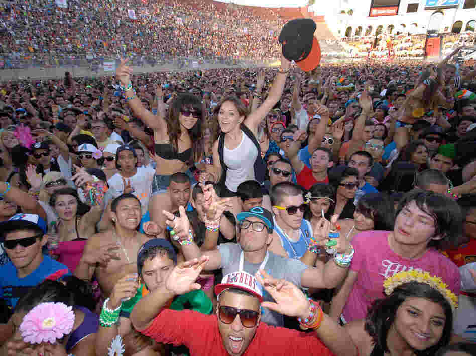 Day two of the Electric Daisy Carnival electronic music festival at the L.A. Coliseum on June 26, 2010 in Los Angeles, California.