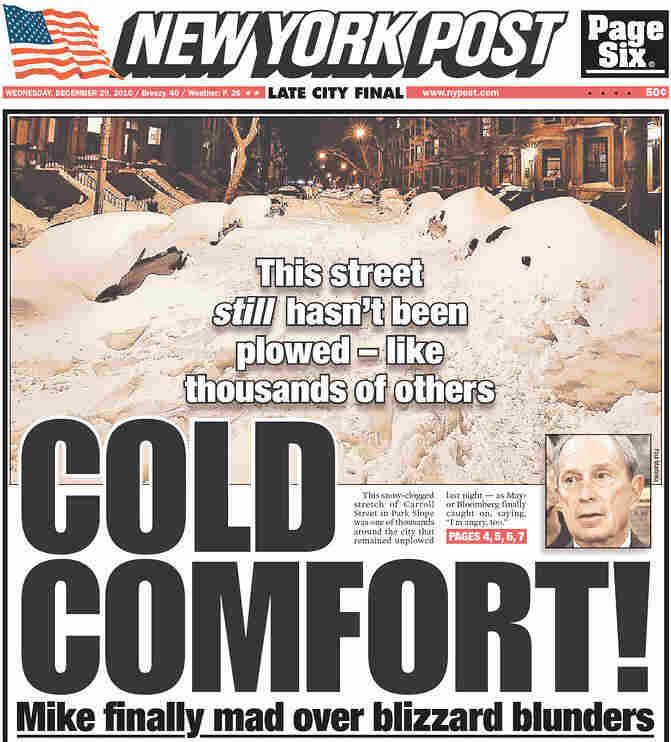 Today's 'New York Post' front page.