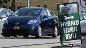 A Toyota Prius hybrid model car waits for customers at a Toyota dealer in Hollywood, Calif., on March 10, 2010. Concerns about the cars suddenly accelerating dogged the company earlier this year.