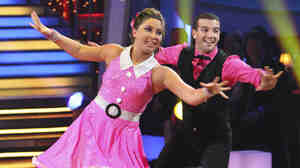"Bristol Palin and partner Mark Ballas on ""Dancing with the Stars."""