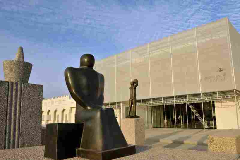Mathaf, the Arab Museum of Modern Art, opened to the public Thursday in Qatar. Located in front of the museum is Adam Henein's Al-Safina (The Ship).