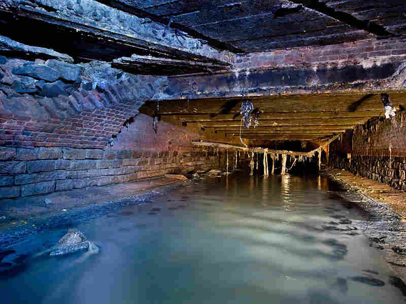 "The Canal Street Sewer in Manhattan, New York's first covered sewer, was roofed over circa  1812 -- previously, it was an open ditch (the ""Canal"" of Canal Street)."