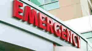 Emergency room sign outside of hospital.