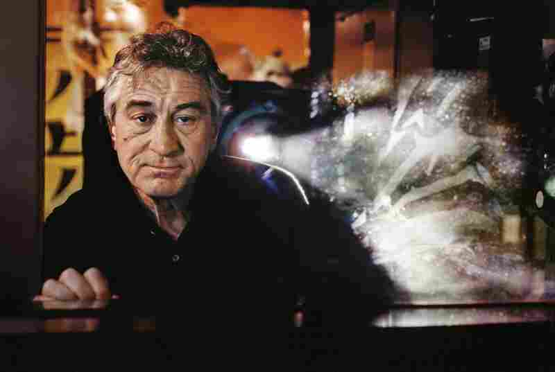 Actor Robert De Niro in his screening room in New York City
