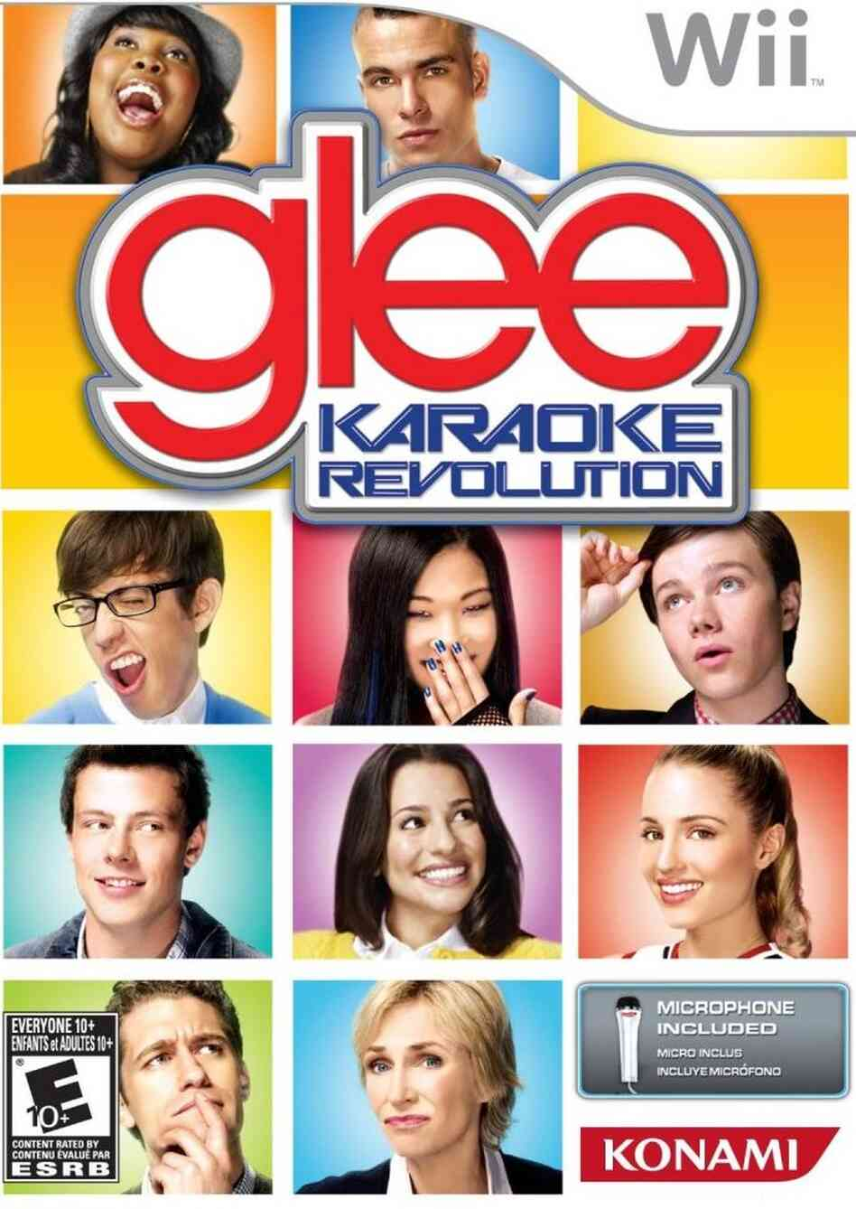 The cover of Glee Karaoke Revolution.