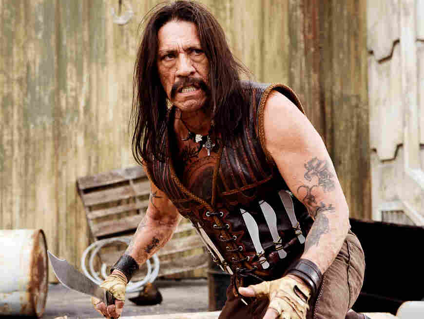 Machete, an action-comedy starring Danny Trejo (pictured above), debuted in theaters in September 2010.
