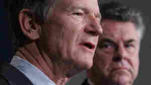 Rep. Lamar Smith of Texas (left) and Rep. Peter King of New York, shown in a 2007 file photo, will lead committees that have oversight of the Justice Department.