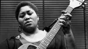 Folk and Blues singer Odetta from Alabama, USA, in London rehearsing at the Prince Charles Theatre, London.