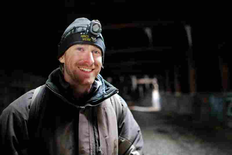 Duncan, here smiling after the third night camping underground, is a graduate of Columbia University and is working on his doctorate in urban history at the University of California.
