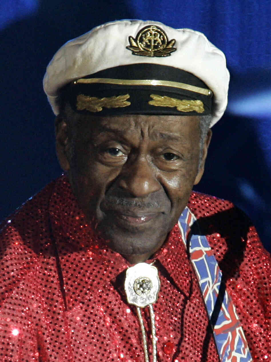 Rock-and-roll legend Chuck Berry felt ill and was checked out by  ambulance medics before a show Saturday night, a Chicago fire official  said. An audience member at the show, however, said Berry slumped over during the show and was offstage for at least 20 minutes.