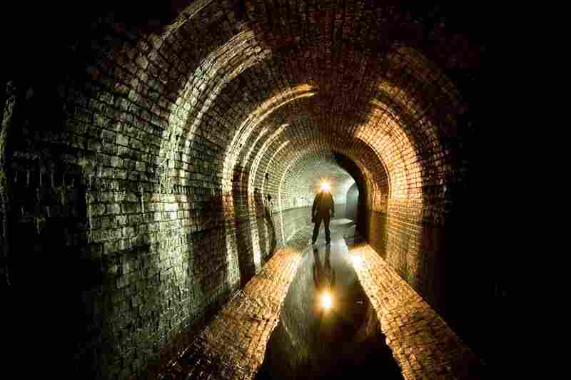 A self-portrait taken by Steve Duncan in New York City's Croton Aqueduct, 2006