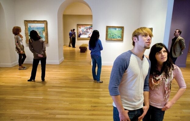 Visitors inside the galleries of The Phillips Collection, Washington, D.C.