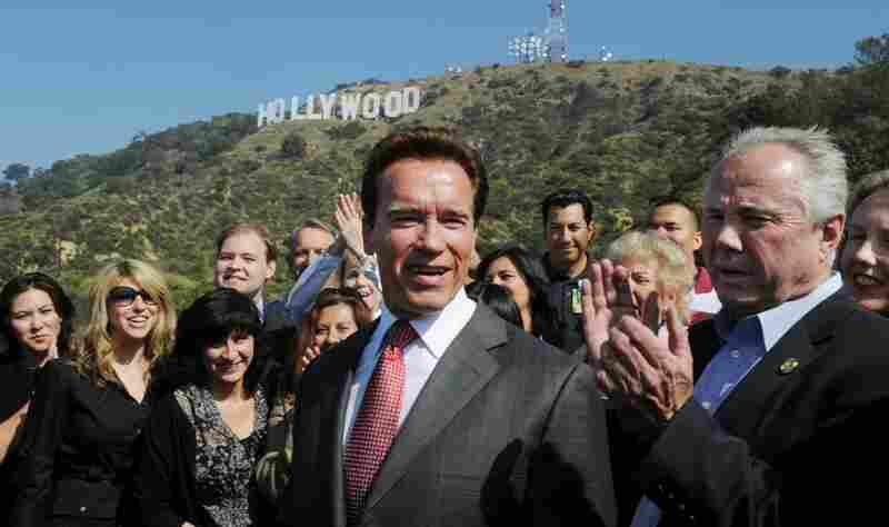 "While Schwarzenegger isn't getting a Hollywood ending to his time as governor, he can be credited with helping to rescue the famous ""Hollywood"" sign from encroaching development."