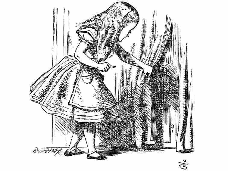 An illustration from Lewis Carroll's book Alice in Wonderland.
