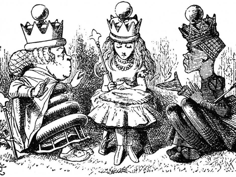 alice red queen illustrations of masonry