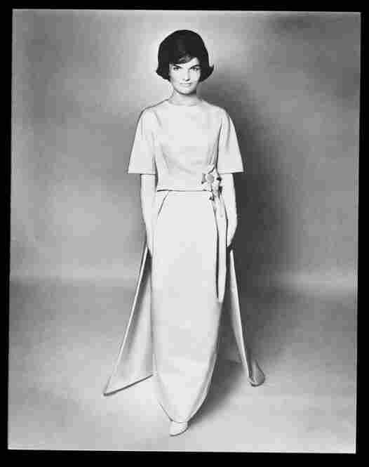 Jackie in her inaugural gown
