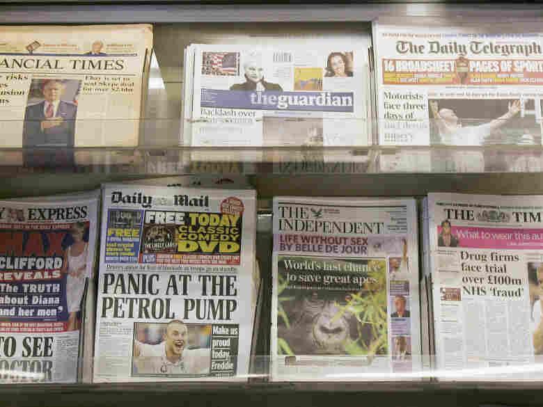 London newsstand