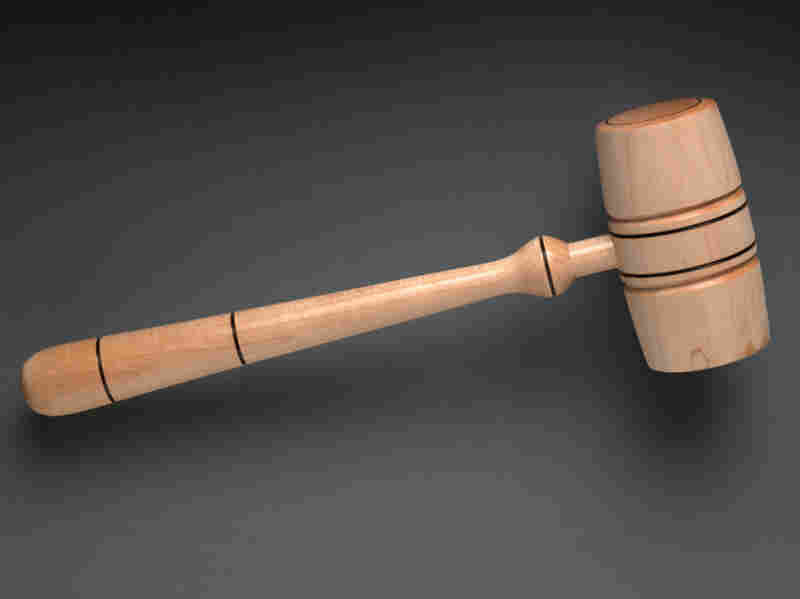 The clerk of the House uses this gavel to open each new session of congress. Clerk's gavel, wood, 1999
